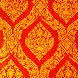 Thai art wall pattern  Orientalne Fototapeta