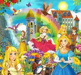 The fairy tales mush up - castles knights fairies  Pokój dziecka Plakat