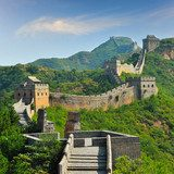 Great Wall of China in Summer with beautiful sky  Architektura Obraz