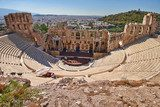 ancient theatre under Acropolis of Athens, Greece  Architektura Obraz