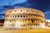 Colosseum at dusk in Rome, Italy  Architektura Obraz