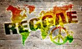 World reggae music concept for peace  Fototapety do Pokoju Nastolatka Fototapeta