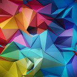 Abstract geometric background  3D Fototapeta