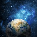 Earth and galaxy  Fototapety Kosmos Fototapeta