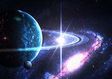 Beautiful space. Elements of this image furnished by NASA  Fototapety Kosmos Fototapeta