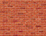 Red brick wall seamless Vector illustration background.  Mur Fototapeta