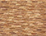 Brick wall seamless Vector illustration background - texture  Mur Fototapeta