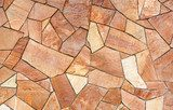 Terracotta Mosaic Background  Mur Fototapeta