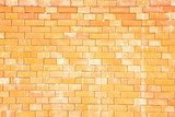 The pattern of yellow brick wall  Mur Fototapeta