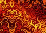 Abstract background with fire flames  Fototapety do Kawiarni Fototapeta