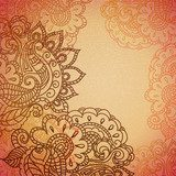 Vintage paisley ornament background  Fototapety do Kawiarni Fototapeta