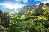 Amazing view of mountain lakes in Albanian Alps  Krajobraz Fototapeta