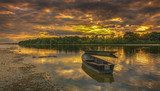 Sunset on the Loire River in France  Krajobraz Fototapeta