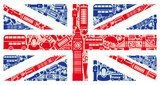 Flag of England from symbols of the United Kingdom and London  Na laptopa Naklejka