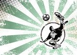 soccer retro poster background  Sport Fototapeta