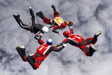 Skydiving photo.  Sport Fototapeta