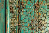 A detail shot of an ancient ottoman door  Orientalne Fototapeta