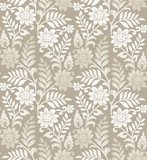 Seamless golden floral background  Na lodówkę Naklejka