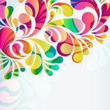 Abstract colorful arc-drop background.  Na sufit Naklejka