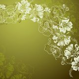 background with decorative flowers  Draw Flower Fototapeta