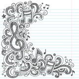 Music Notes G Clef Sketchy Doodles Vector  Drawn Sketch Fototapeta