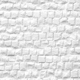 White stone wall texture background  Mur Fototapeta