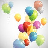 background with multicolored balloons  Plakaty do Salonu Plakat