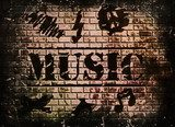 music word background  Nastolatek Plakat