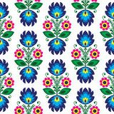 Seamless traditional floral polish pattern - ethnic background  Folklor Fototapeta