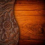 wood carving background  Folklor Fototapeta