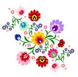 Traditional Polish floral folk pattern vector  Folklor Fototapeta