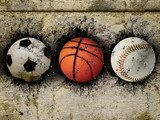 basketball, baseball and soccer  Sport Plakat