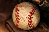 Baseball glove with ball  Sport Plakat