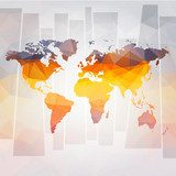 modern concept of world map vector  Mapa Świata Fototapeta