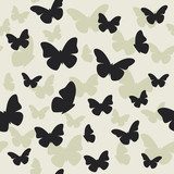 Beautiful butterfly pattern. Vector illustration  Motyle Fototapeta