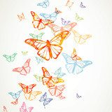 Vector Background with Colorful Butterflies  Motyle Fototapeta