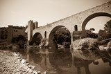 Medieval bridge. Imitation of vintage image  Mosty Fototapeta