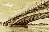 Renewed Margit Bridge in the Budapest  Mosty Fototapeta