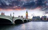 London at Dusk  Fototapety Mosty Fototapeta