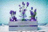 Lavender in bottles decor  Prowansja Fototapeta