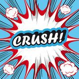 Pop Art explosion Background crush!  Komiks Fototapeta