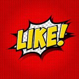 LIKE ! Comic Speech Bubble, Cartoon.  Komiks Fototapeta