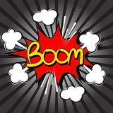 Boom with radial speed. comic speech bubble  Komiks Fototapeta