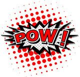 Pow! - Comic Speech Bubble, Cartoon  Komiks Fototapeta