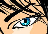 Eye of woman in close-up - Comic  Komiks Fototapeta