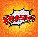 krash! - Comic Speech Bubble, Cartoon.  Komiks Fototapeta
