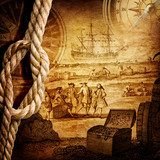 adventure stories background  Fototapety Sepia Fototapeta