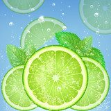 fresh lime  Kuchnia Plakat