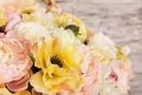 Flowers bouquet of peony, summer arrangement  Plakaty do Sypialni Plakat