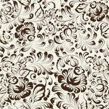 Ornate blue and white floral seamless pattern in Gzhel style  Na meble Naklejka